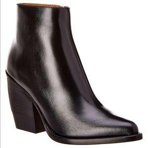 CHLOE Rylee leather block heel boots 36 black